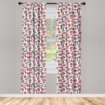 Abakuhaus Gardine »Vorhang für Wohnzimmer Schlafzimmer Dekor«, rot Vintage Inspired Tulpen