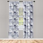 Abakuhaus Gardine »Vorhang für Wohnzimmer Schlafzimmer Dekor«, Shabby Chic Garden Spring Roses