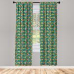 Abakuhaus Gardine »Vorhang für Wohnzimmer Schlafzimmer Dekor«, Sommer Apfelbaum-Frucht-Blätter Kunst