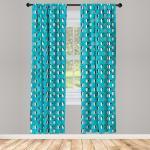 Abakuhaus Gardine »Vorhang für Wohnzimmer Schlafzimmer Dekor«, Türkisblau Penguins