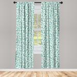 Abakuhaus Gardine »Vorhang für Wohnzimmer Schlafzimmer Dekor«, Wald Pastell Ginkgo-Blätter