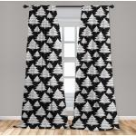Abakuhaus Gardine »Vorhang für Wohnzimmer Schlafzimmer Dekor«, Weihnachten Aufwändige Bäume Tupfen