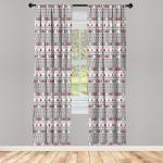 Abakuhaus Gardine »Vorhang für Wohnzimmer Schlafzimmer Dekor«, Weihnachten Deer Bäume Borders