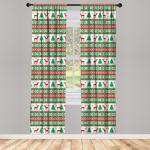 Abakuhaus Gardine »Vorhang für Wohnzimmer Schlafzimmer Dekor«, Weihnachten Ferienzeit Deer