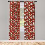 Abakuhaus Gardine »Vorhang für Wohnzimmer Schlafzimmer Dekor«, Weihnachten Holly Mistletoe
