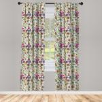 Abakuhaus Gardine »Vorhang für Wohnzimmer Schlafzimmer Dekor«, Weihnachten Lively Rich-Doodle, bunt