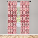 Abakuhaus Gardine »Vorhang für Wohnzimmer Schlafzimmer Dekor«, Weihnachten Nordic Borders, orange