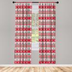 Abakuhaus Gardine »Vorhang für Wohnzimmer Schlafzimmer Dekor«, Weihnachten Reindeer Snowflake