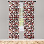 Abakuhaus Gardine »Vorhang für Wohnzimmer Schlafzimmer Dekor«, Weihnachten Schneemann-Ren-Kinder