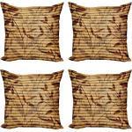 Abakuhaus Kissenbezug »Modern Accent Doppelseitiger Digitaldruck«, Beige Bambus-Blätter Bohemian, beige