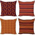 Abakuhaus Kissenbezug »Modern Accent Doppelseitiger Digitaldruck«, Ethnisch Tribal Folk Stripes Forms