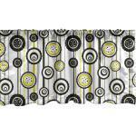 Abakuhaus Scheibengardine »Vorhang Volant für Küche Schlafzimmer Dekor mit Stangentasche«, Abstrakt Moderne Blumen auf Streifen, gelb
