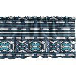 Abakuhaus Scheibengardine »Vorhang Volant für Küche Schlafzimmer Dekor mit Stangentasche«, aztekisch Primitive Geometrische Formen