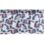 Abakuhaus Scheibengardine »Vorhang Volant für Küche Schlafzimmer Dekor mit Stangentasche«, Blume Vibrant Vintages Shabby