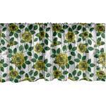 Abakuhaus Scheibengardine »Vorhang Volant für Küche Schlafzimmer Dekor mit Stangentasche«, Blumen Realistische Goldenen Rosen Bild