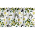 Abakuhaus Scheibengardine »Vorhang Volant für Küche Schlafzimmer Dekor mit Stangentasche«, Botanisch Oliven und Zitronen Growing