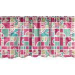 Abakuhaus Scheibengardine »Vorhang Volant für Küche Schlafzimmer Dekor mit Stangentasche«, Bunt Quirky Formen Creative Art