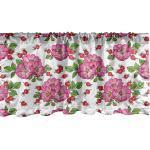 Abakuhaus Scheibengardine »Vorhang Volant für Küche Schlafzimmer Dekor mit Stangentasche«, Frühling Dog Rose Blumen Beeren