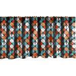 Abakuhaus Scheibengardine »Vorhang Volant für Küche Schlafzimmer Dekor mit Stangentasche«, Geometrisch Moderne Hexagon Entwurf