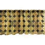 Abakuhaus Scheibengardine »Vorhang Volant für Küche Schlafzimmer Dekor mit Stangentasche«, Golden Kreise mit Inner-Streifen