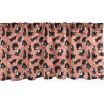 Abakuhaus Scheibengardine »Vorhang Volant für Küche Schlafzimmer Dekor mit Stangentasche«, Hund Verschiedene Doggies Chilling Around