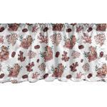 Abakuhaus Scheibengardine »Vorhang Volant für Küche Schlafzimmer Dekor mit Stangentasche«, Marine Nautical Seekorallen Muster, rosa