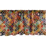 Abakuhaus Scheibengardine »Vorhang Volant für Küche Schlafzimmer Dekor mit Stangentasche«, Mosaik Folk Funky traditionelles Motiv, bunt