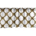 Abakuhaus Scheibengardine »Vorhang Volant für Küche Schlafzimmer Dekor mit Stangentasche«, Nautisch Abstrakte Cord mit Knoten, gelb