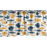 Abakuhaus Scheibengardine »Vorhang Volant für Küche Schlafzimmer Dekor mit Stangentasche«, Nautisch Aufwändige Bizarre Fischarten