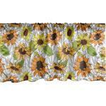 Abakuhaus Scheibengardine »Vorhang Volant für Küche Schlafzimmer Dekor mit Stangentasche«, Orange und Gelb Sunflowers