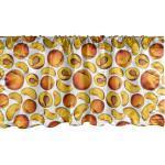 Abakuhaus Scheibengardine »Vorhang Volant für Küche Schlafzimmer Dekor mit Stangentasche«, Vintage Botanik Geschnitten Peach Pieces
