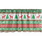 Abakuhaus Scheibengardine »Vorhang Volant für Küche Schlafzimmer Dekor mit Stangentasche«, Weihnachten Ferienzeit Deer
