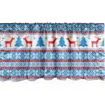Abakuhaus Scheibengardine »Vorhang Volant für Küche Schlafzimmer Dekor mit Stangentasche«, Weihnachten Folk Knit Art-Kunst