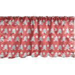 Abakuhaus Scheibengardine »Vorhang Volant für Küche Schlafzimmer Dekor mit Stangentasche«, Weihnachten Kiefer-Gekritzel Pastell