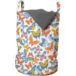 Abakuhaus Wäschesack »Wäschekorb mit Griffen Kordelzugverschluss für Waschsalons«, Schmetterling Fliegen Frühling Insekten