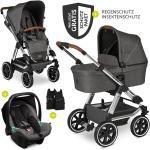 ABC Design 3in1 Kinderwagen-Set Viper 4 - Diamond Edition - inkl. Babyschale Tulip & XXL Zubehörpaket - Asphalt inkl. Gratis Mobilitätsgarantie + 29,40€ Cashback auf Deine nächste Bestellung