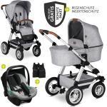 ABC Design 3in1 Kinderwagen-Set Viper 4 mit Lufträdern - inkl. Babyschale Tulip & XXL Zubehörpaket - Graphite Grey inkl. Gratis Mobilitätsgarantie + 26,40€ Cashback auf Deine nächste Bestellung