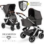 ABC Design Kombi-Kinderwagen Salsa 4 Air Diamond Edition - inkl. Babywanne, Sportsitz & XXL Zubehörpaket - Asphalt inkl. Gratis Mobilitätsgarantie + 25,20€ Cashback auf Deine nächste Bestellung