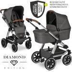 ABC Design Kombi-Kinderwagen Viper 4 Diamond Edition- inkl. Babywanne, Sportsitz & XXL Zubehörpaket - Asphalt inkl. Gratis Mobilitätsgarantie + 23,70€ Cashback auf Deine nächste Bestellung