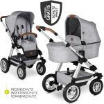ABC Design Kombi-Kinderwagen Viper 4 mit Lufträdern - inkl. Babywanne, Sportsitz & XXL Zubehörpaket - Graphite Grey inkl. Gratis Mobilitätsgarantie + 20,40€ Cashback auf Deine nächste Bestellung