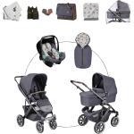 ABC Design Salsa 4 Air Kombikinderwagen Starter Set, 13-tlg. inkl. Tulip i-Size Babyschale stone