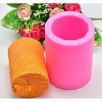 Abcidubxc 3D-Silikonform, zylinderförmig, Bienenwabe, für Kerzen, Seife, Kuchen, Bienenwachs, Kunst, Basteln, Kerzenherstellung