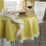 abwaschbare Schutz-Tischdecke weiss oval: 140x190 cm