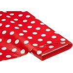 Abwaschbare Tischwäsche - Wachstuch Tupfen, rot/weiß