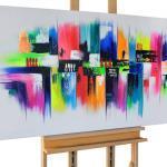 """Acryl Gemälde """"Mezclado' 140x70cm"""