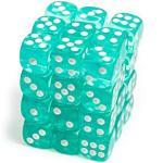 ADC Blackfire Entertainment 91702 Blackfire Würfel Box 12mm D6 36 Dice Set Transparent Cyan