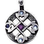 Adelia's Amulett »Nordische Lichter Talisman«, Keltisches Kreuz Herz - Wahre und glückliche Freundschaft