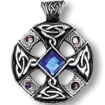 Adelia's Amulett »Nordische Lichter Talisman«, Keltisches Kreuz - Inspiration und Intuition, silberfarben
