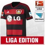 adidas Bayer 04 Leverkusen Home Jersey 2015/2016 schwarz/rot Größe XXL