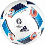 adidas EURO 2016 Sala Training Futsal-Fußball (Größe: FUTS, white/bright blue/night indigo)